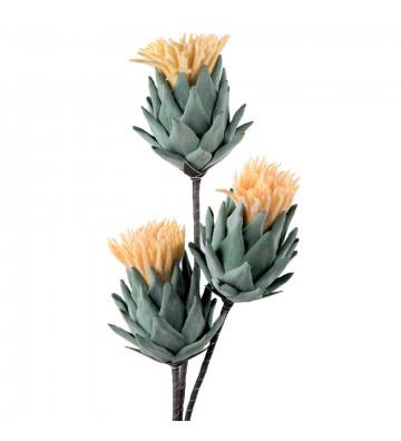 Cardo giallo artificiale realizzato in Polietilene espanso.fiore finto l'oca nera. Dimensioni: H100cm