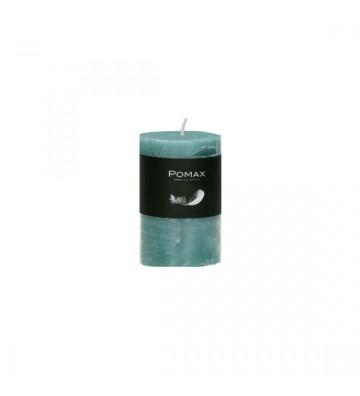 CANDELA turchese Ø5XH8 CM DISPONIBILE IN DIVERSI COLORI REALIZZATA IN PARAFFINA. candela pomax. candela turchese Ø5XH8 CM.