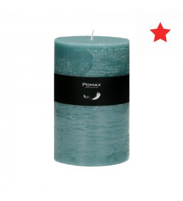 CANDELA turchese Ø10XH15 CM DISPONIBILE IN DIVERSI COLORI REALIZZATA IN PARAFFINA. candela pomax. candela turchese Ø10XH15cm.