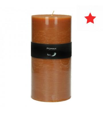 CANDELA arancione pomax Ø10XH20 CM DISPONIBILE IN DIVERSI COLORI REALIZZATA IN PARAFFINA.candela arancione.