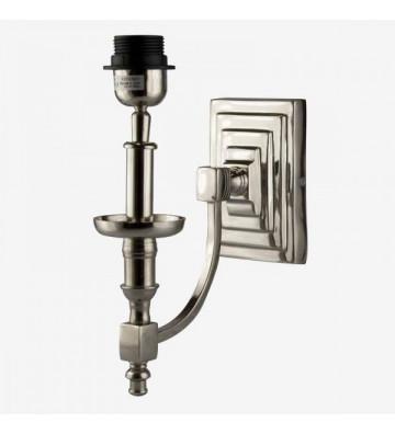 Applique argento con placca a muro quadrata su diverse altezze. Dimensioni: 10x20,5x30cm.quaint&quality.