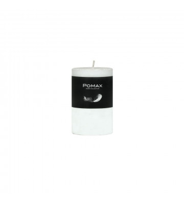 CANDELA bianco Ø5XH8 CM DISPONIBILE IN DIVERSI COLORI REALIZZATA IN PARAFFINA. candela pomax. candela bianco Ø5XH8 CM.