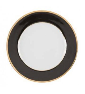 piatto fondo in porcellana modello ginger ø20 nero e oro-cote table - nardini forniture