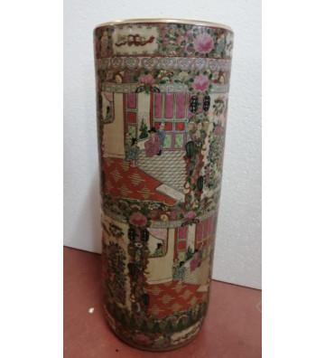 Portaombrelli in porcellana cinese canton originale H60cm - nardini forniture