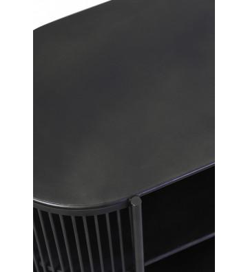 Mobile aperto 149x40x80 cm modello Yinthe in metallo nero.mobile light&living.