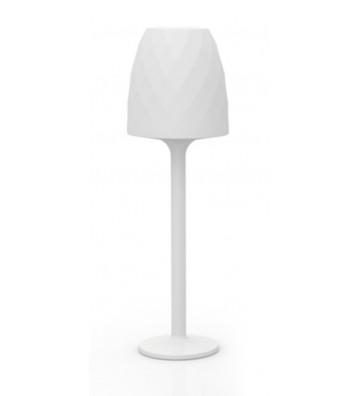 LAMPADA PICCOLA DA ESTERNO BIANCA RETROILLUMINATA CON LED ø56x180