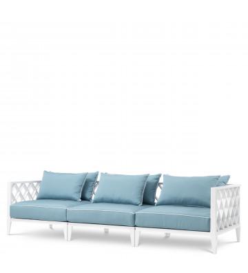 Divano da esterno bianco con cuscini - Sofa Ocean Club Eichholtz