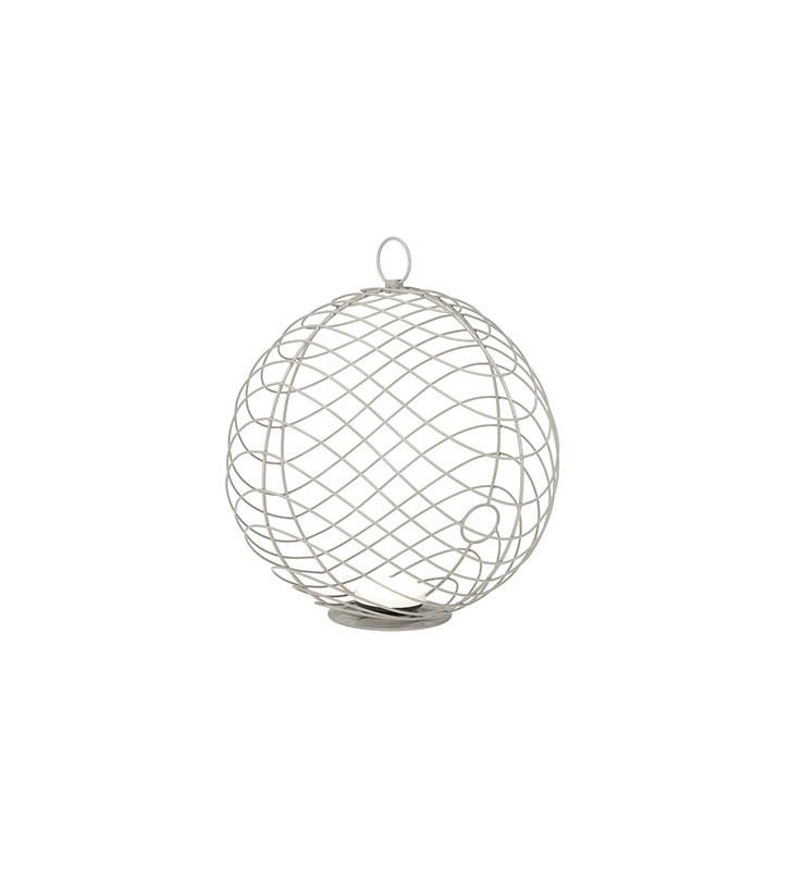 Lanterna Chios in alluminio grigio da esterno ø81.5cm - Smania - nardini forniture