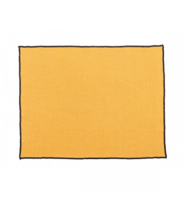 Tovaglietta rettangolare in lino cerato color Zafferano 35x48cm - nardini forniture.tovagliette borgo zafran harmony 10032226033