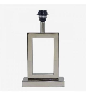 Lampada da tavolo argento rettangolare 20x8x35cm - Nardini Forniture