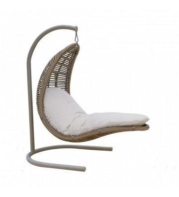 Poltrona pensile da esterno modello Christy bortoli struttura in alluminio e polywood - Nardini Forniture