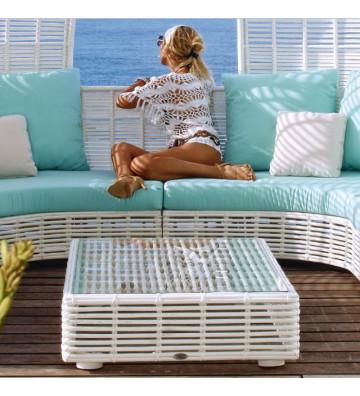 Tavolo da fumo per esterno Spartan Bortoli in alluminio e polywood bianco - Nardini Forniture