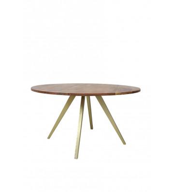 Tavolo da pranzo ø140 cm in bronzo e legno di acacia - Light&Living - Nardini Forniture