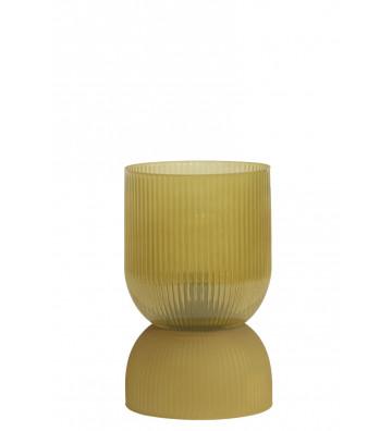 Lampada da tavolo in vetro giallo Ø12XH19,5 cm - Light&Living - Nardini Forniture