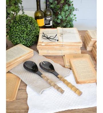 Set 2 posate in corno e legno - Nardini Forniture.jpg
