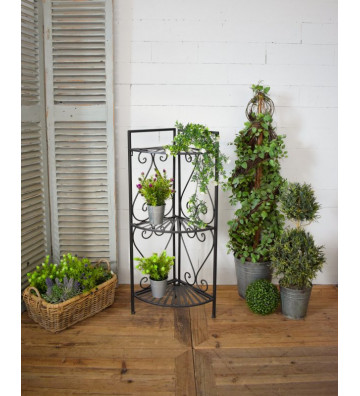 Angoliera porta fiori in metallo - Nardini Forniture
