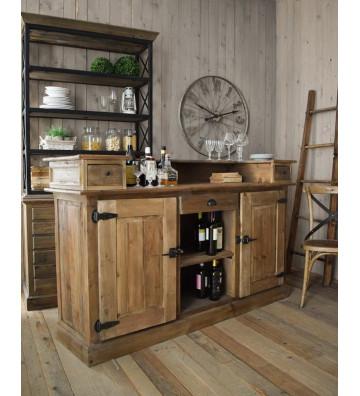 Mobile bar vintage in legno di pino bonificato - Nardini Forniture