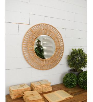 Specchio in rattan ø60 cm - Nardini Forniture