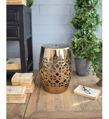 Pouf in ceramica color rame anticato - Nardini Forniture