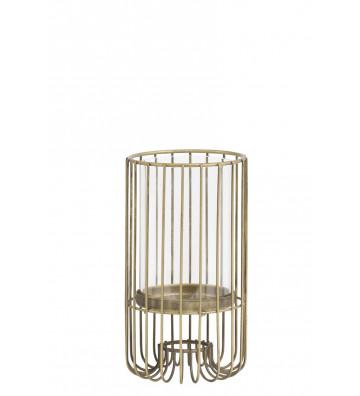 Portacandele in metallo oro ø11 cm - Light&Living - Nardini Forniture