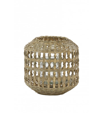 Portacandele rotondo in bamboo - Light&Living - Nardini Forniture