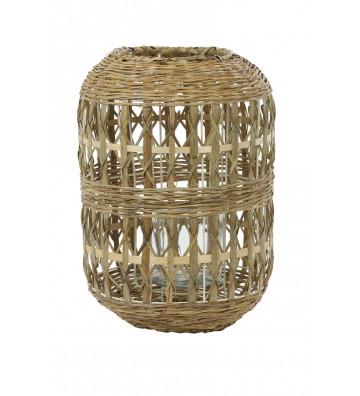 Portacandele ovale in bamboo - Light&Living - Nardini Forniture