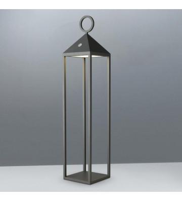 Lanterna led da esterno in alluminio grigio antracite 67cm - Nardini Forniture