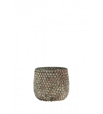 Tealight Emilio in vetro bronzo Ø7x7cm - Light&Living - Nardini Forniture