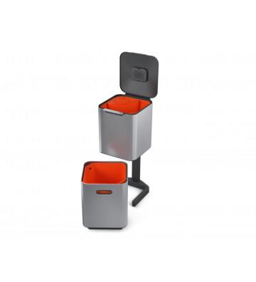 Pattumiera acciaio inox per riciclaggio con filtro antiodore - Totem Compact 40L - Joseph&Joseph - Nardini Forniture