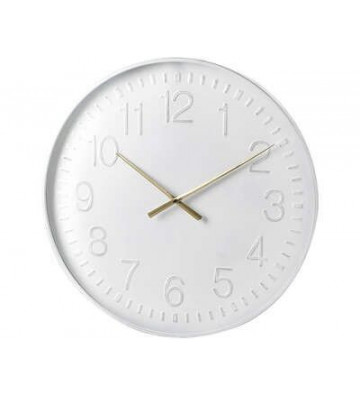 Orologio Boscombe in metallo bianco 60x5x60 cm - Light&Living - Nardini Forniture