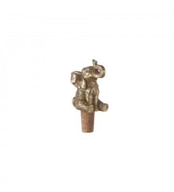 Tappo bottiglia in sughero e metallo a forma di elefante H10x4x5 cm - Light&Living - Nardini Forniture