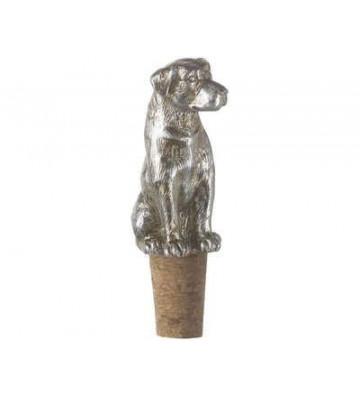 Tappo bottiglia in sughero e metallo argentato a forma di cane labrador 4x4x10 cm - Light&Living - Nardini Forniture