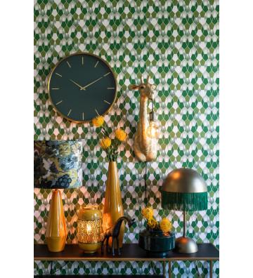 Orologio verde scuro e oro Timora Ø51x3cm - Light&Living - Nardini Forniture