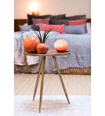 Side table Envira circolare oro antico ø39cm - Light&Living - Nardini Forniture