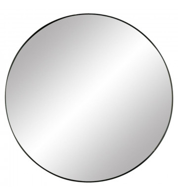 Specchio palace in metallo nero ø110xh3,5 cm - Pomax - Nardini Forniture