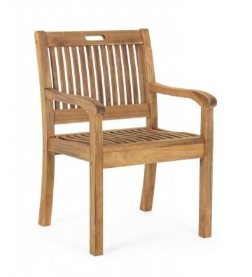Poltrona Noemi in legno di acacia e acciaio galvanizzato - Nardini Forniture