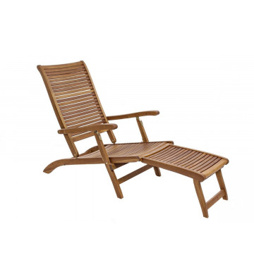 Lettino Steamer 3 posizioni in legno di acacia - Nardini Forniture