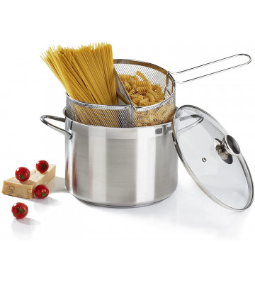 Spaghettiere doppio cestello acciaio inox ø24cm - Barazzoni - Nardini Forniture