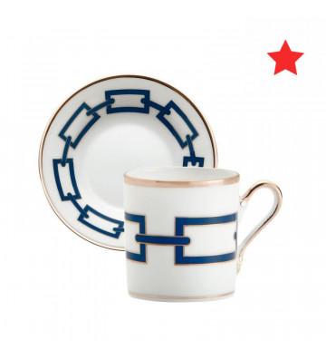 Tazzine da caffè con piattino Catene Zaffiro 80cc - Richard Ginori - Nardini Forniture
