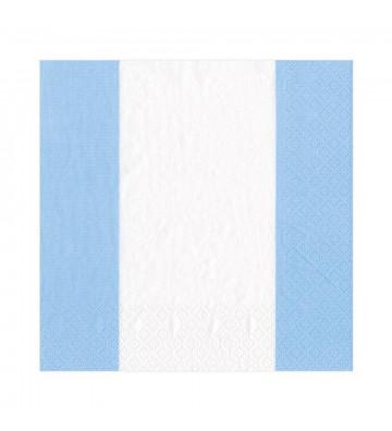 Tovaglioli in carta a righe bianche e azzurre - 20 per confezione - Caspari - Nardini Forniture