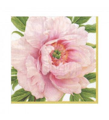 Tovaglioli in carta Fiore Blush - 20 per confezione - Caspari - Nardini Forniture