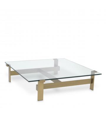 Coffee Table Maxim ottone e vetro 120x120xH30 cm - Eichholtz - Nardini Forniture