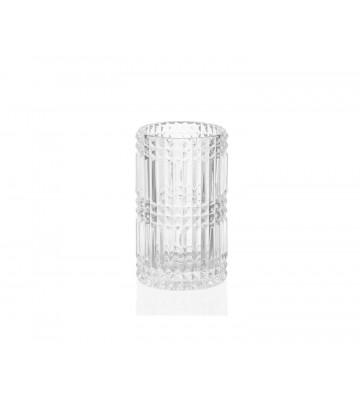 Portaspazzolino vetro Diamante Ø7x11 cm - Andrea House - Nardini Forniture