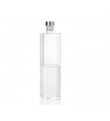 Bottiglia per acqua rettangolare in vetro con tappo 1,5L - Andrea House - Nardini Forniture