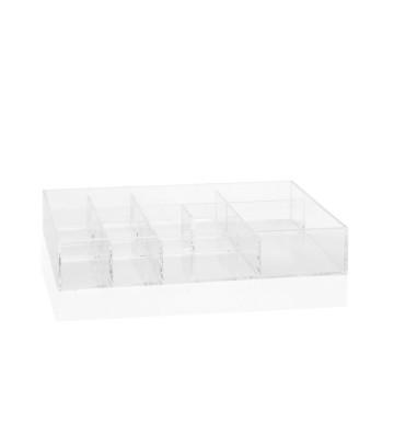 Organizer in acrilico trasparente con 12 scomparti 34x21x6 cm - Andrea House - Nardini Forniture