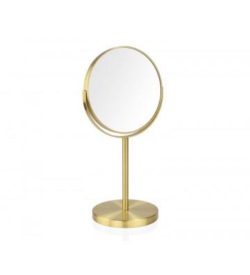 Specchio da tavolo ingranditore 5X oro a doppia faccia - Andrea House - Nardini Forniture