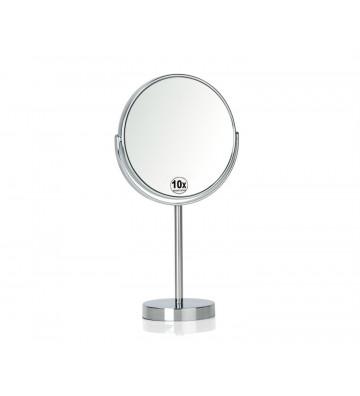 Specchio ingranditore X10 con base in metallo cromato - Andrea House - Nardini Forniture