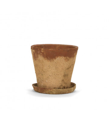 Vaso fioriera rustica in cemento Ø24,5x23,5 cm - Andrea House - Nardini Forniture