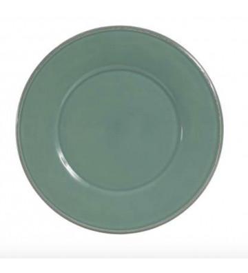 Piatto piano di terracotta verde salvia Ø28,5cm - Cote table - Nardini Forniture
