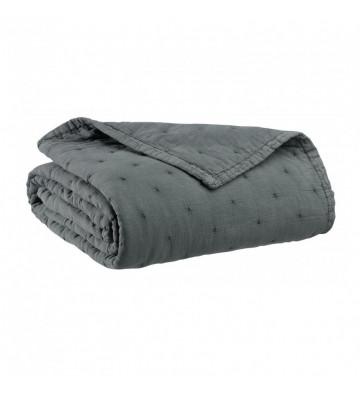 Copriletto Ming grigio trapuntato 260x260cm - Vivaraise - Nardini Forniture